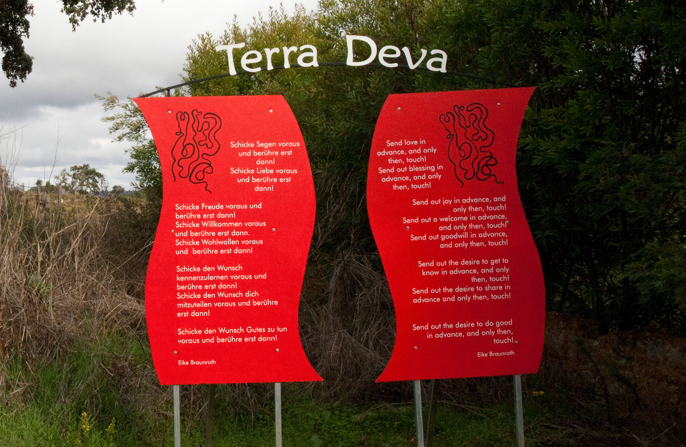 Terra Deva Entrance - Send Love Ahead and Touch Only Then
