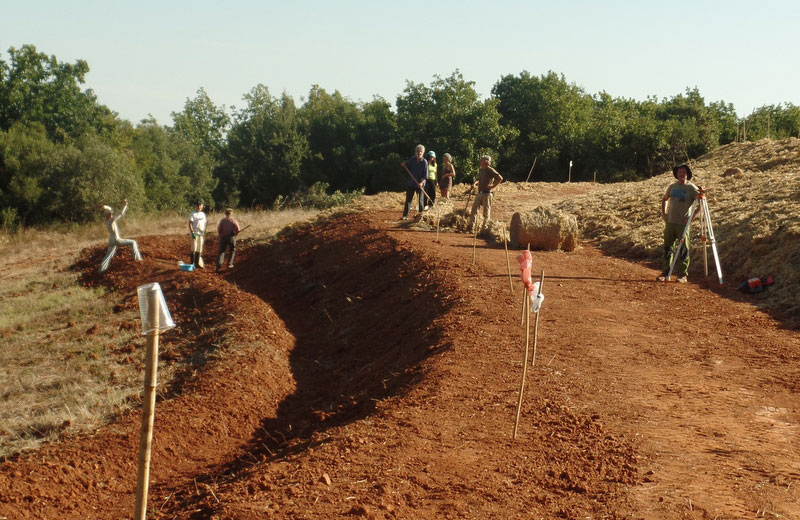 Earthworks for Water Retention